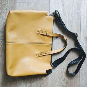 Zara mustard yellow messenger bag